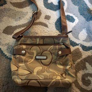 Over the shoulder brown bag